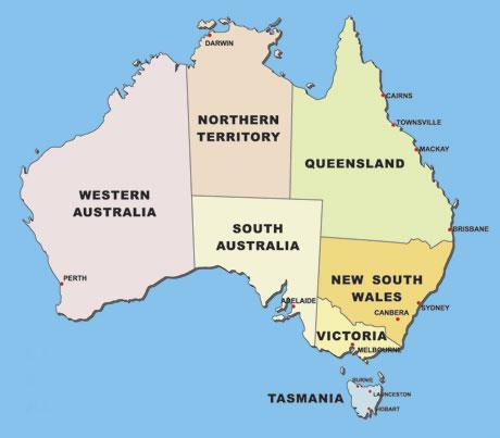 Austrálie a oceánie - zvolte zemi